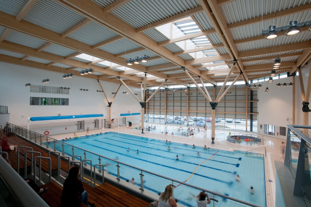 Pool area at Omagh Leisure Complex