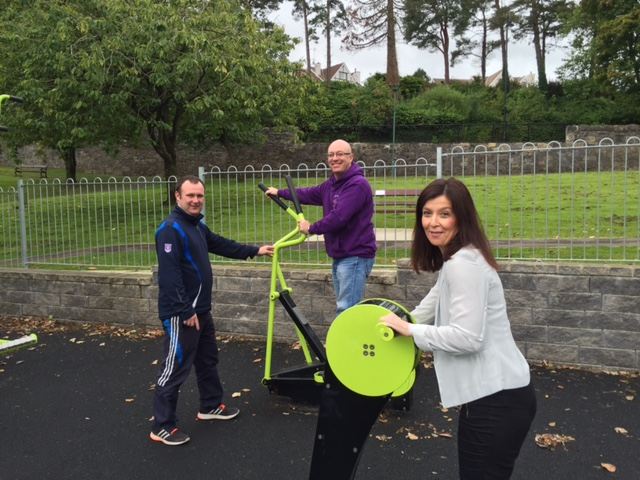 Fitness sessions take place at a nmuber of outdoor gyms across the district