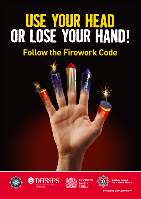 Always apply the Fireworks Code when handling fireworks