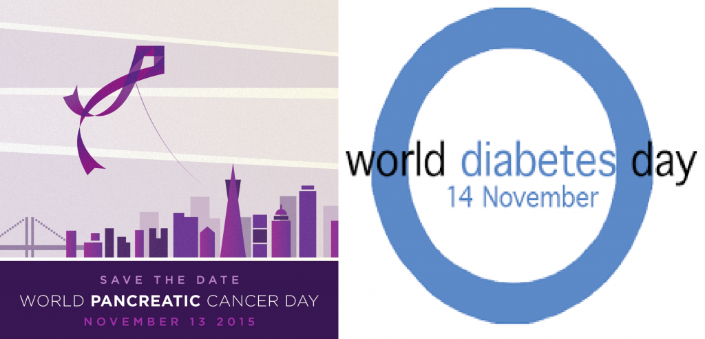 Council buildings will be lit purple and blue for World Pancreatic Cancer Day and World Diabetes Day on 13 & 14 November respectively