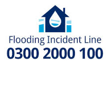 To report a flood telephone the Flooding Incident Line on 0300 2000 100