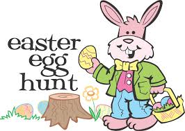 easter egg hunt with bunny