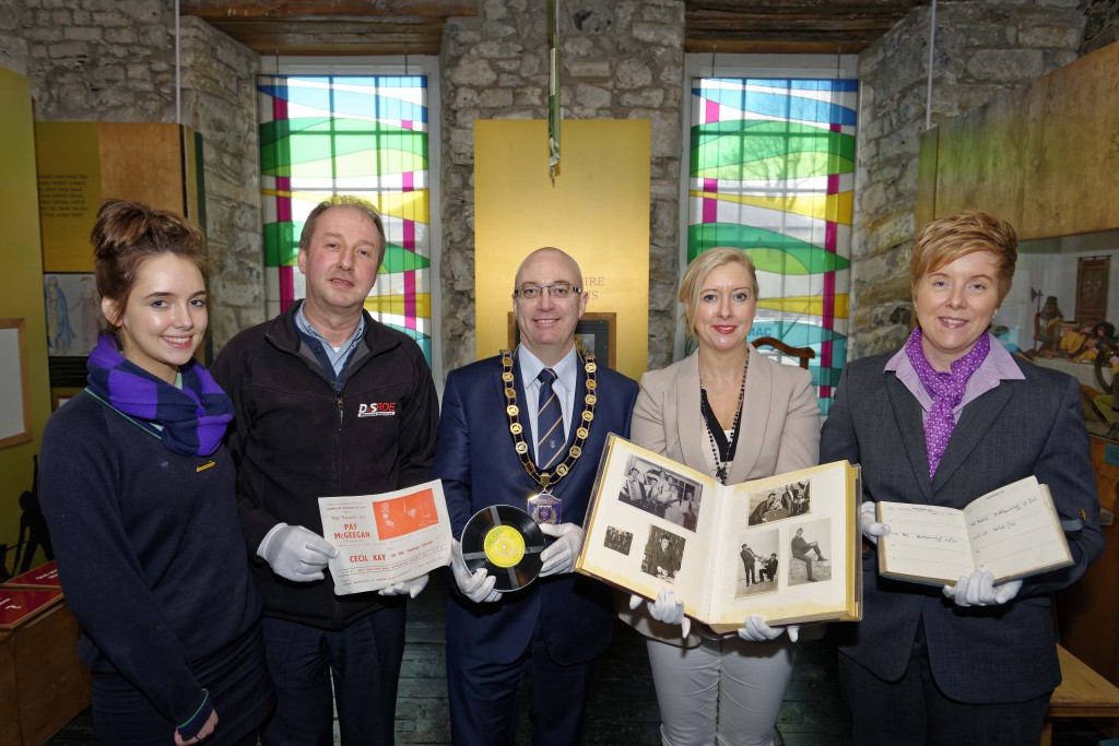 Skyrockets donation to Fermanagh County Museum