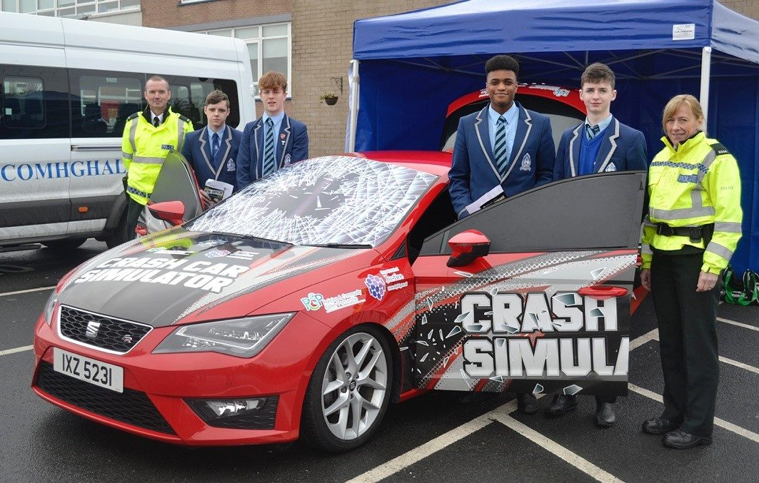 Crash Car Simulator at St Comhgalls 16.01.2017