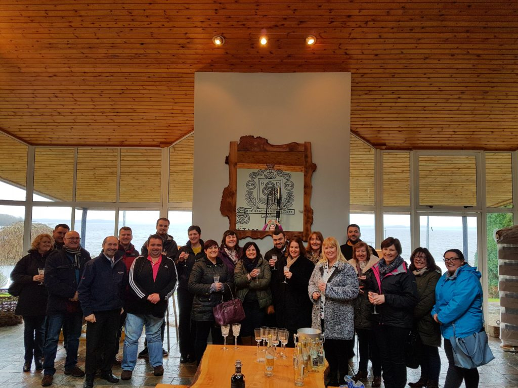Dennis from Boatyard Distillery explained the process of making the local gin to the group.