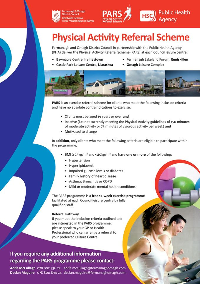 Physical Activity Referral Scheme at Council Leisure Centres