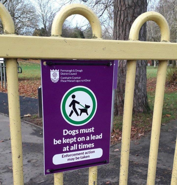 Photo 1 Dog Control Order Signage