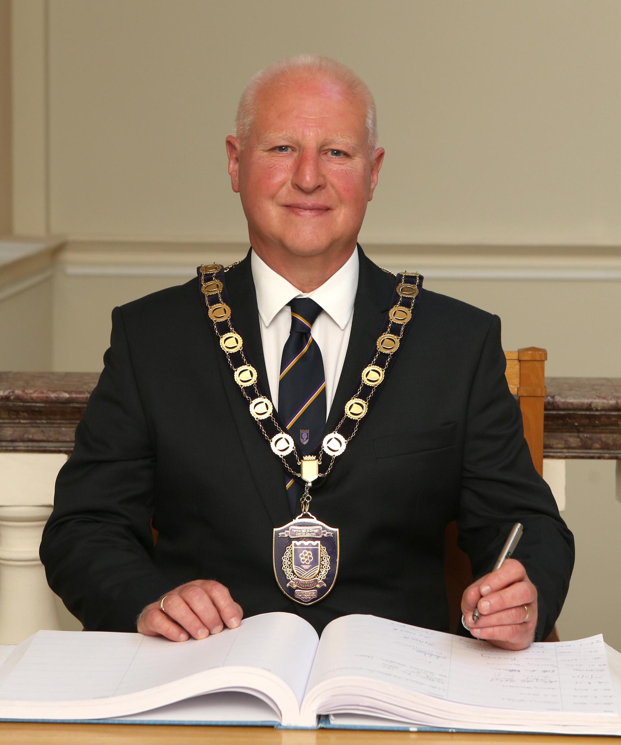 Cllr. Errol Thompson Chair Ferm & Omagh Dist Col